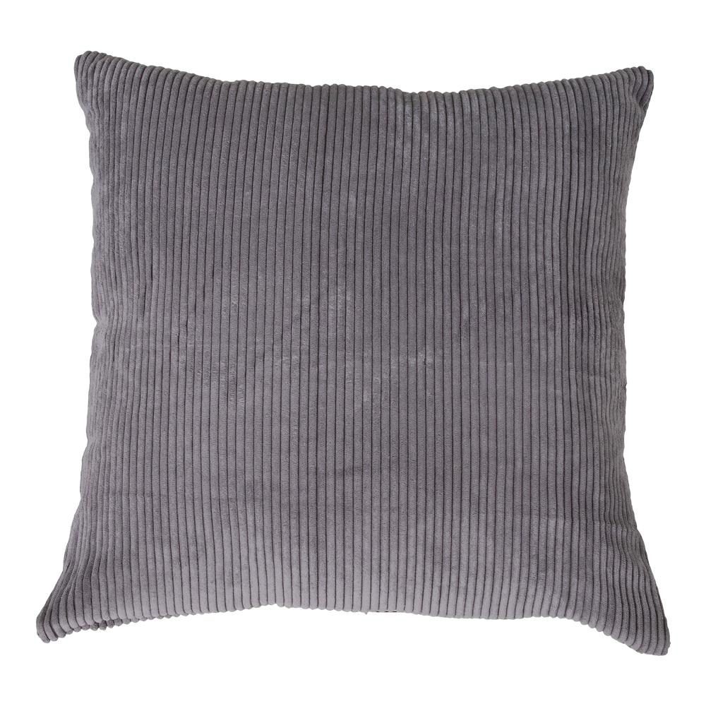 Poduszka dekoracyjna Curlos z podszewką  szary sztruks 45x45 cm