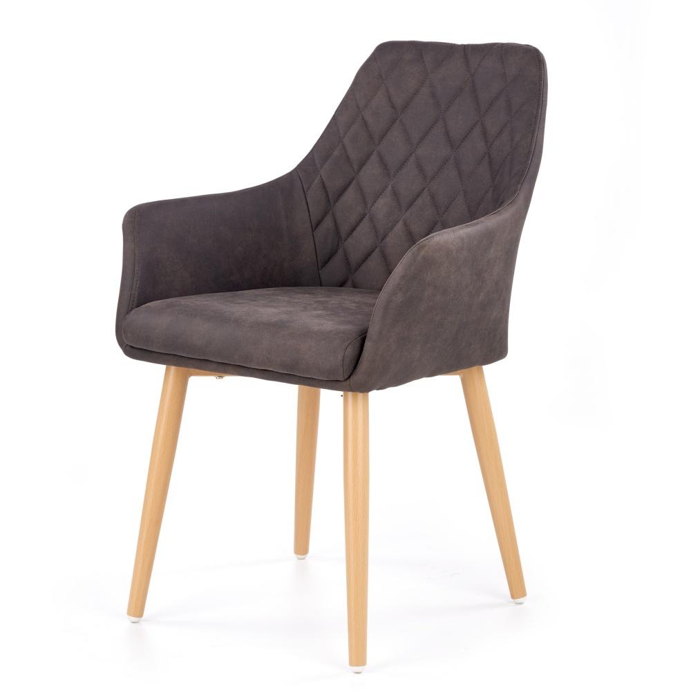 Krzesło Moita ecoskóra ciemny brąz