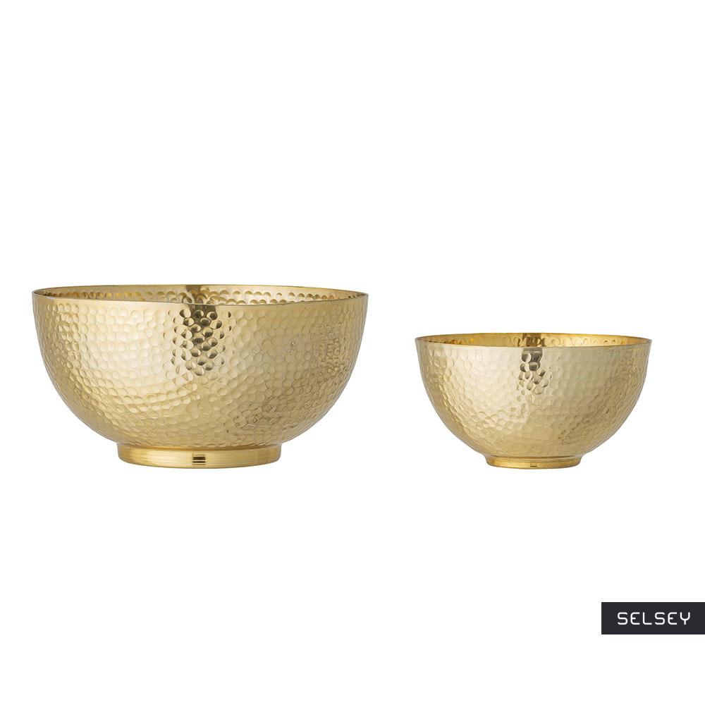 Miska Hanneleen złota aluminium zestaw 2 sztuk