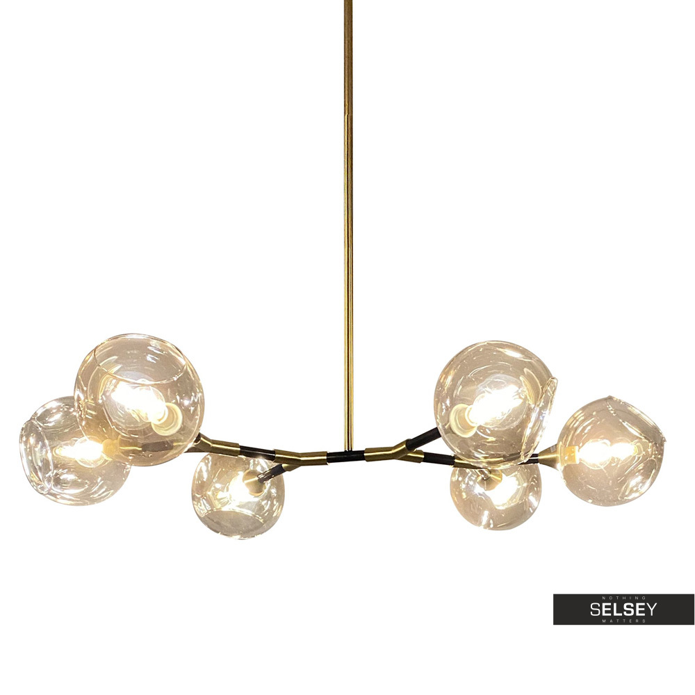 Lampa wisząca Kiwano czarno złota x6