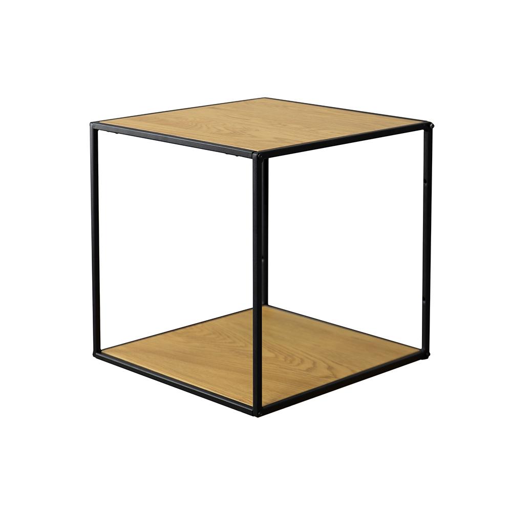 Stolik kawowy kwadratowy Seaford 36x36 cm dąb - czarny