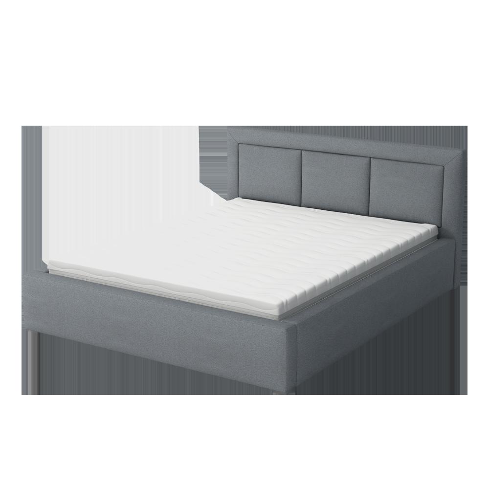 łóżko Tapicerowane Ligma Z Pojemnikiem Na Pościel