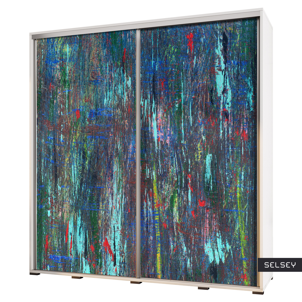 Szafa Wenecja 205 cm Abstrakcja paw