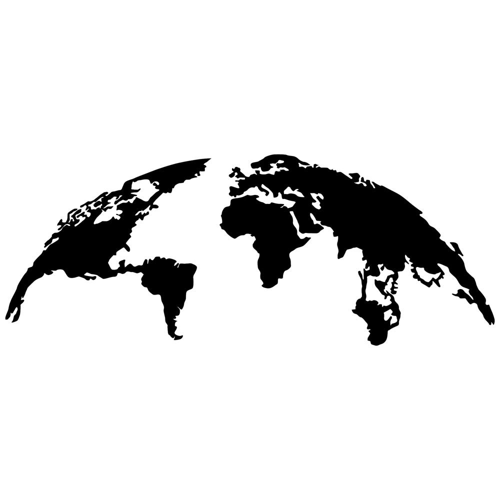 Dekoracja ścienna Algieba 150x59 cm czarna