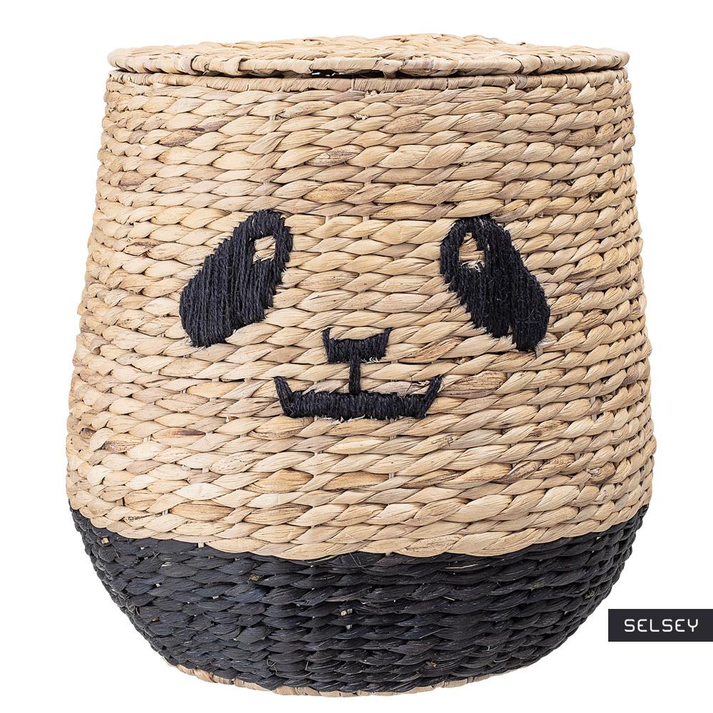 Kosz pleciony Nevion panda z hiacyntu wodnego