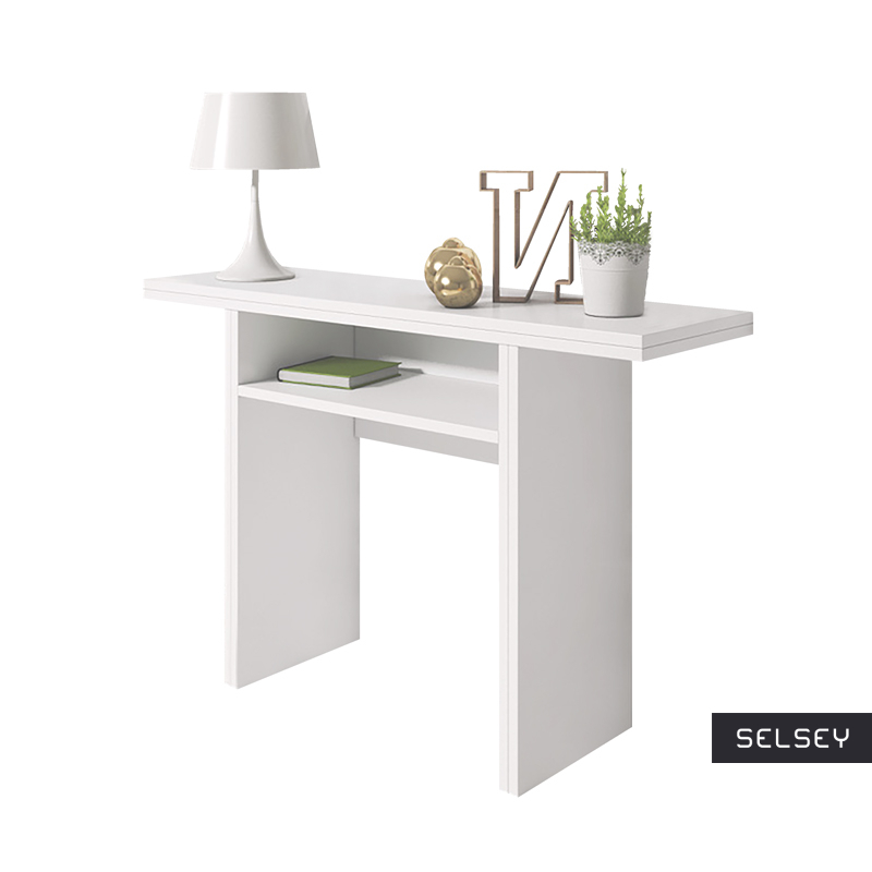 Włoska toaletka - konsola - stół Lurdi biały