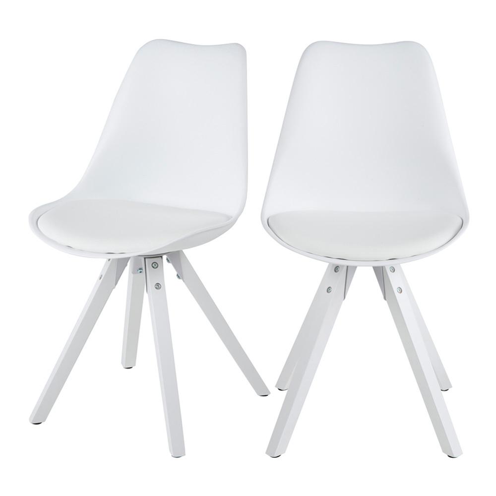 Zestaw dwóch krzeseł Djum białe
