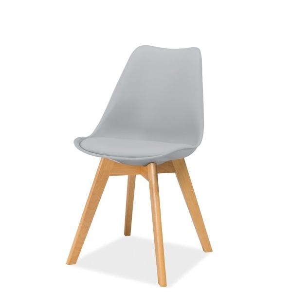 Krzesło Camelle jasnoszare - buk