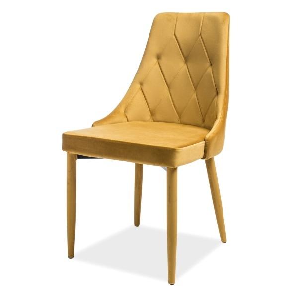 Krzesło Cornido miodowy welur