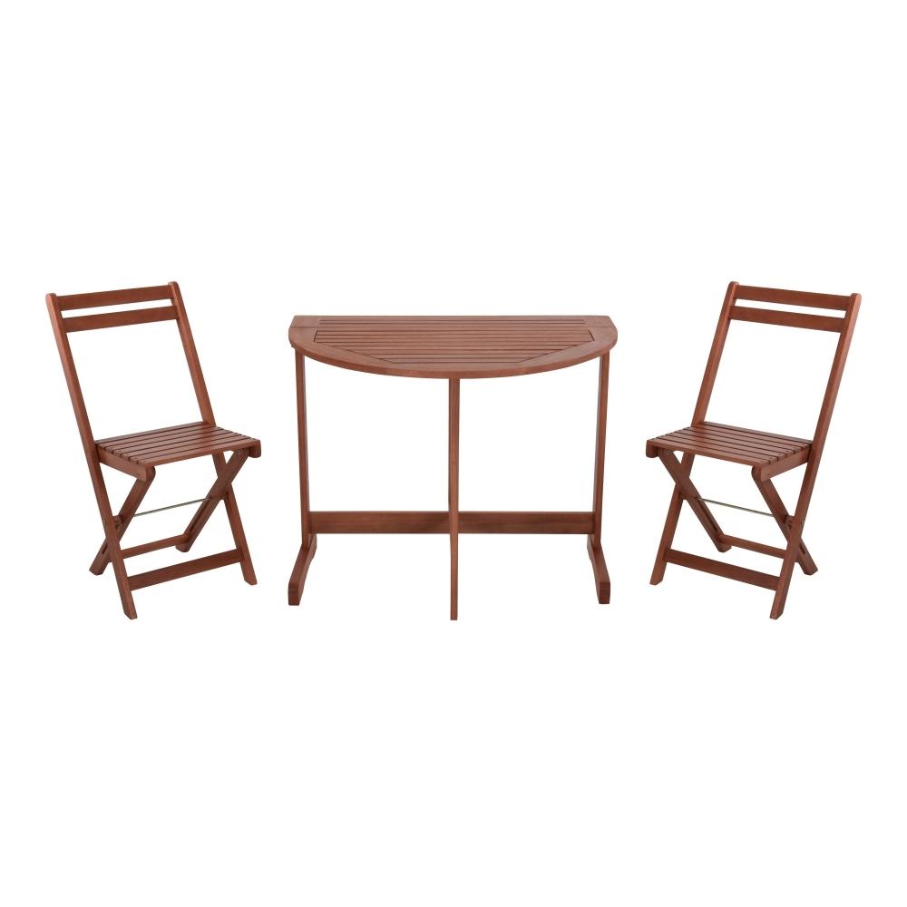 Zestaw mebli ogrodowych Survival stół i dwa krzesła na balkon