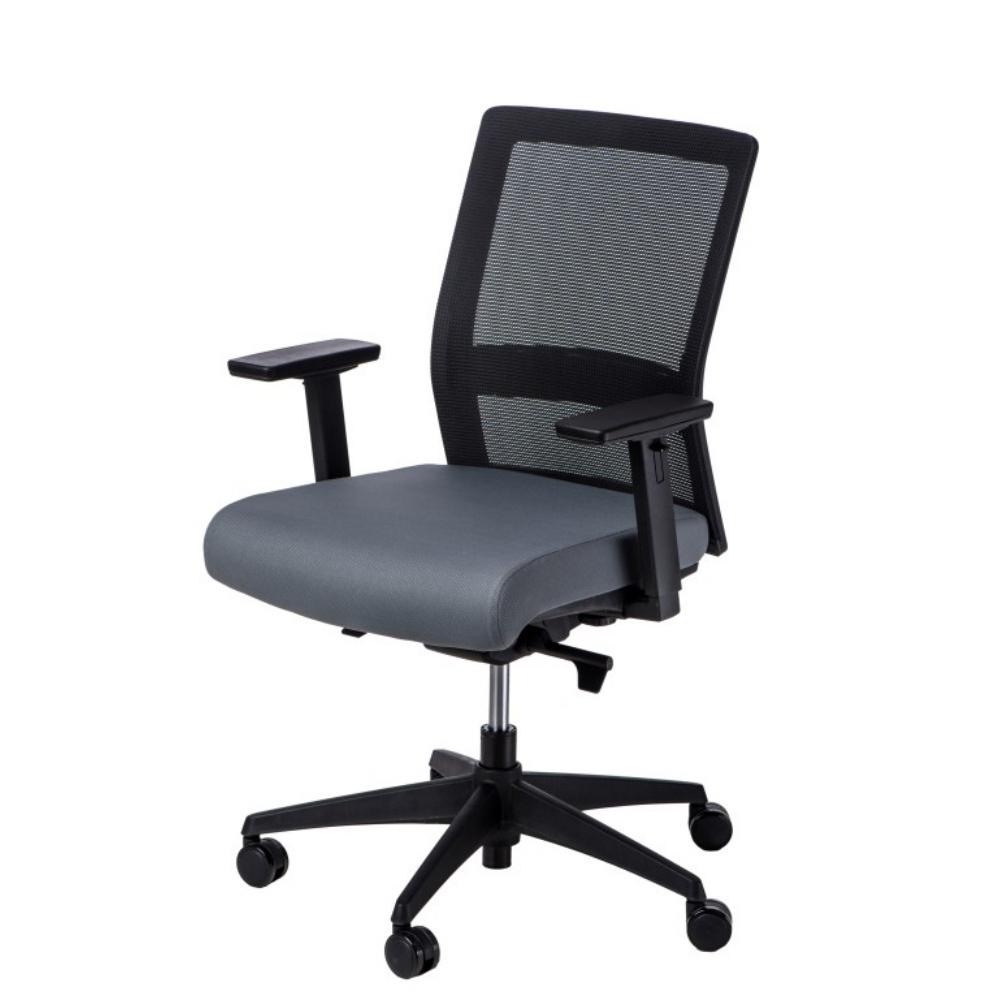 Fotel biurowy Press czarno-szary z obrotowym siedziskiem