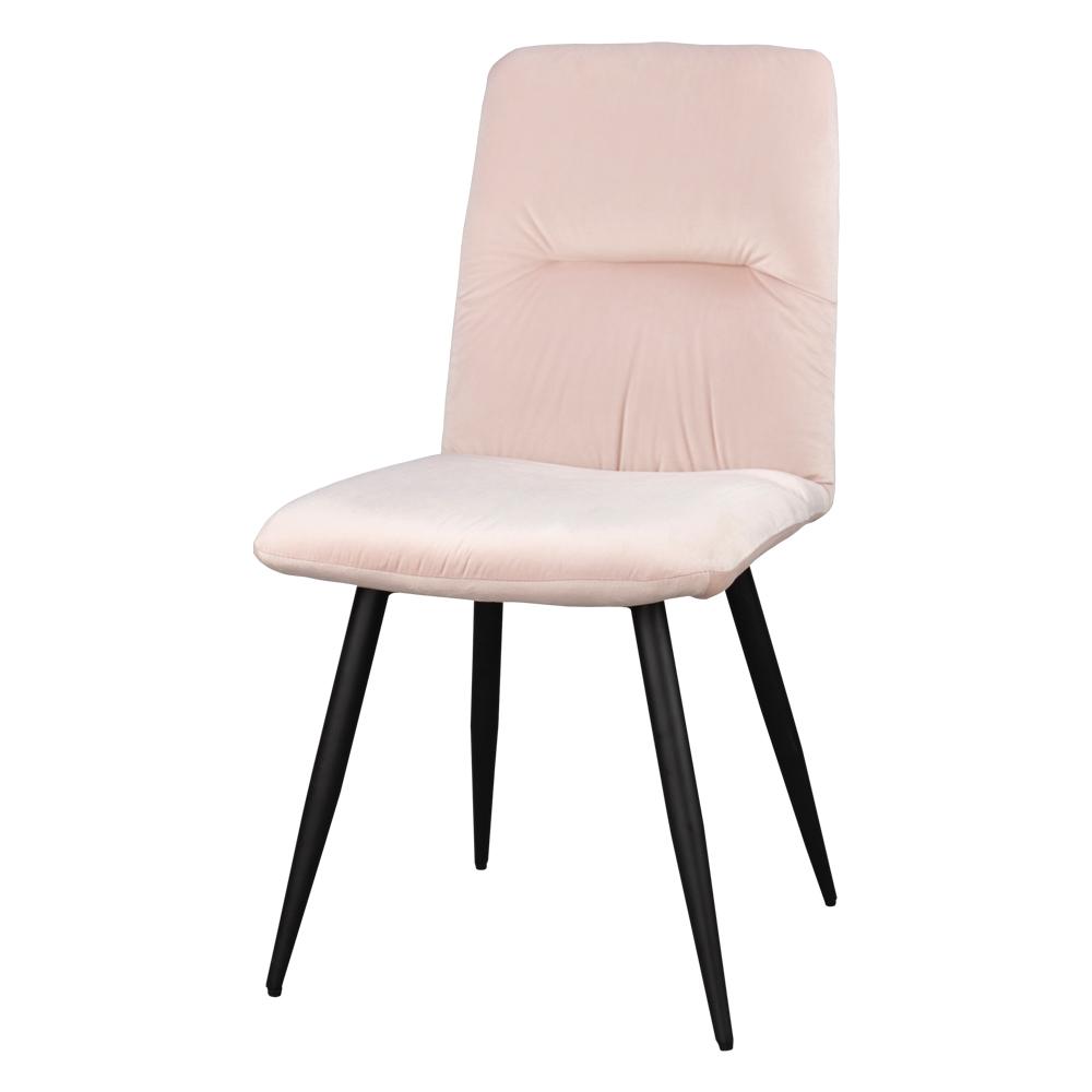 Krzesło tapicerowane Mosterio pudrowy velvet