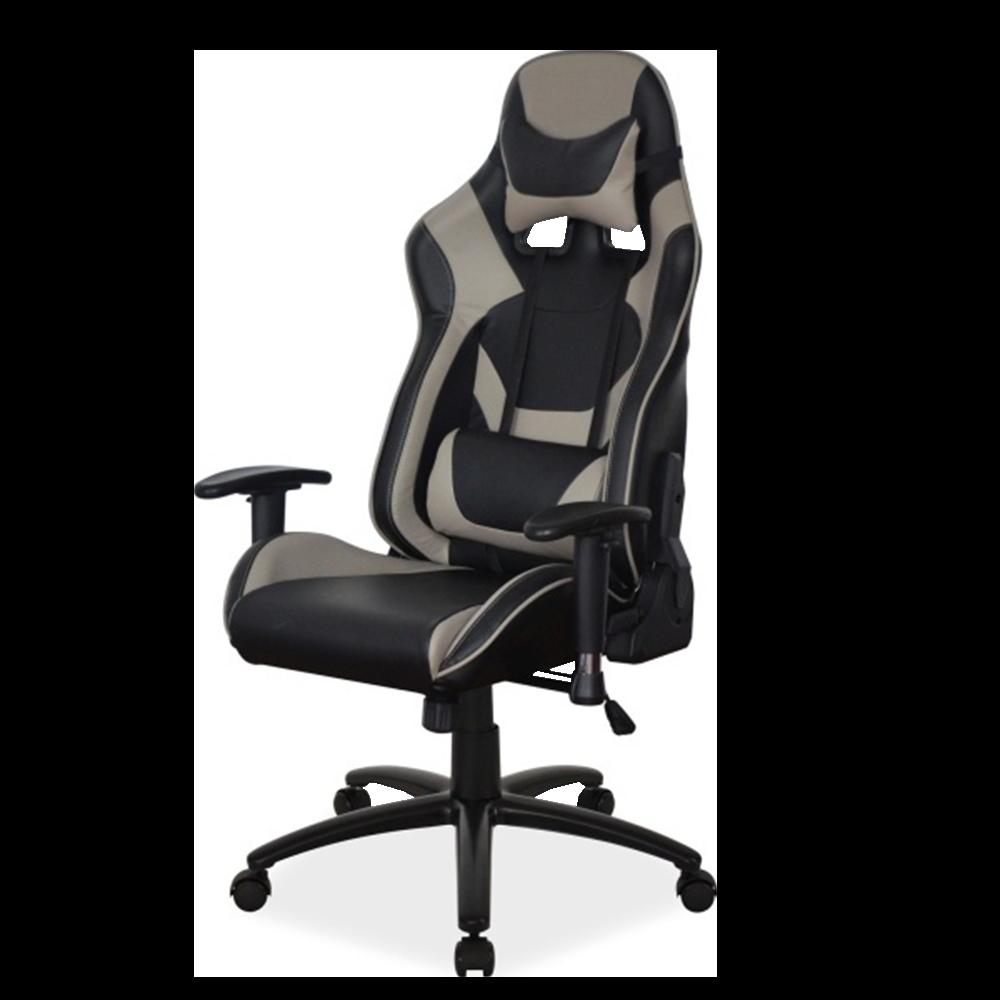 Fotel gamingowy Tully szaro - czarny