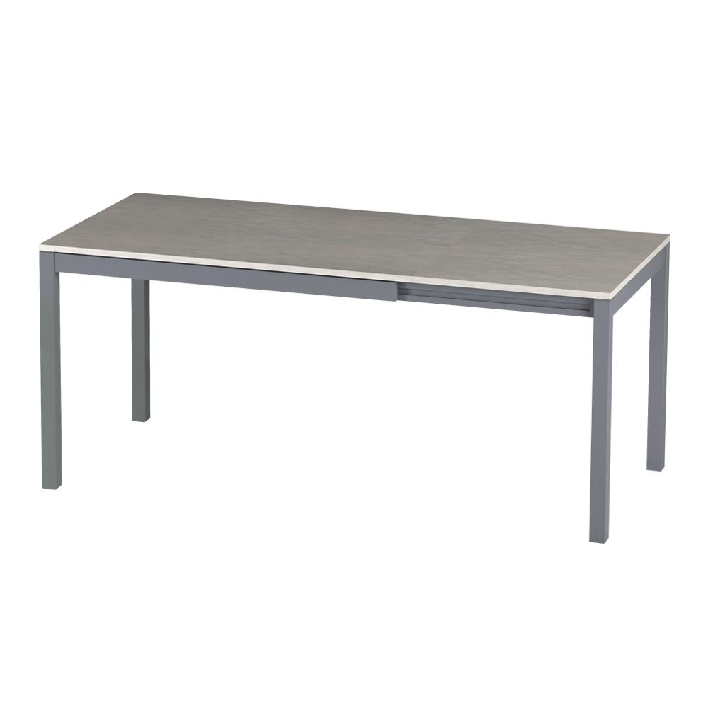 Włoski stół rozkładany Alberto 120-180x80 cm beton na antracytowych nogach