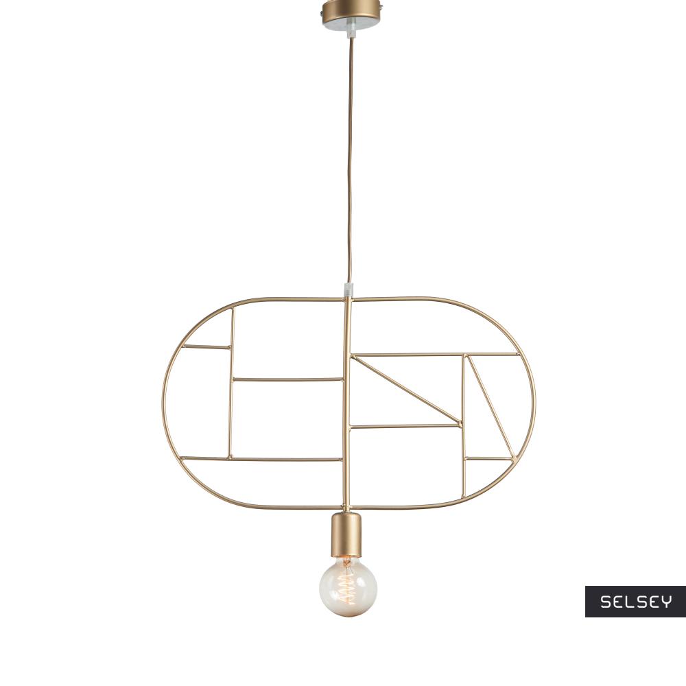Lampa wisząca Geometra Oval złota