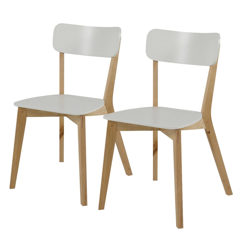 Zestaw dwóch krzeseł Jazina białe
