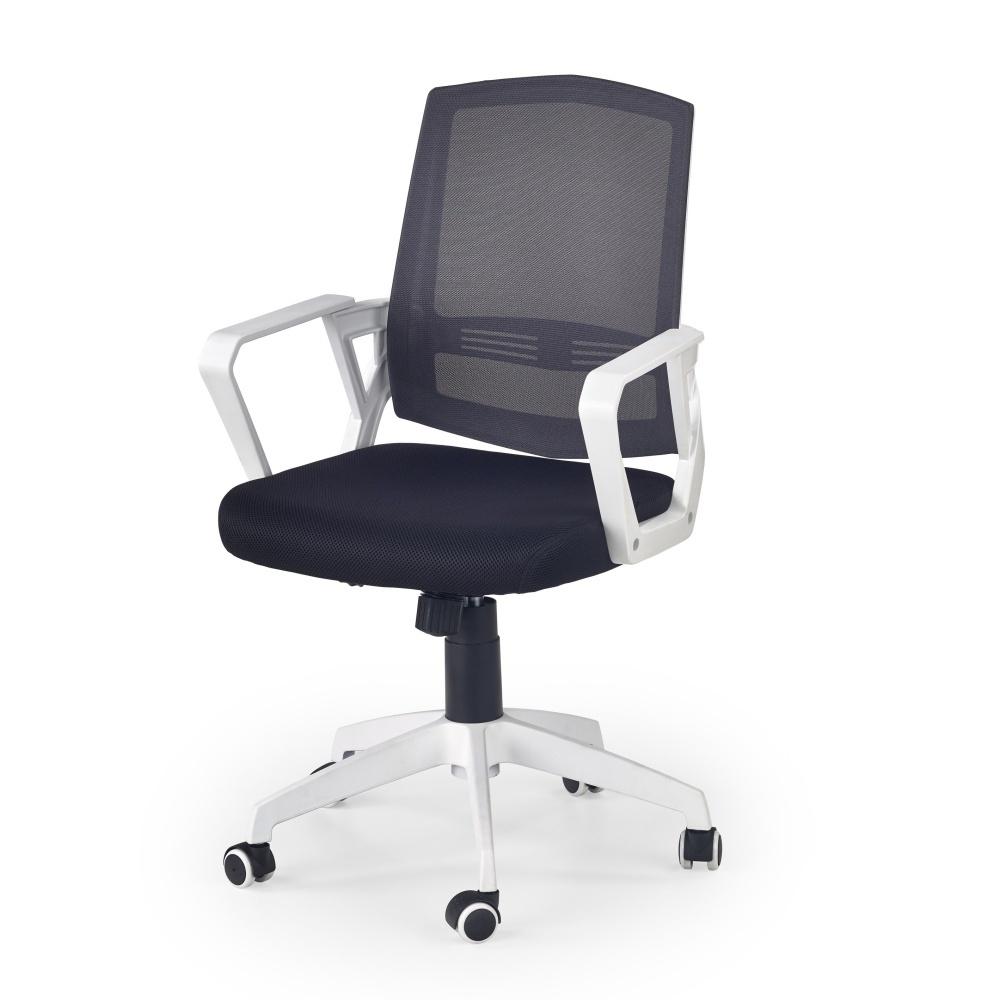 Fotel biurowy Olena czarno - biały