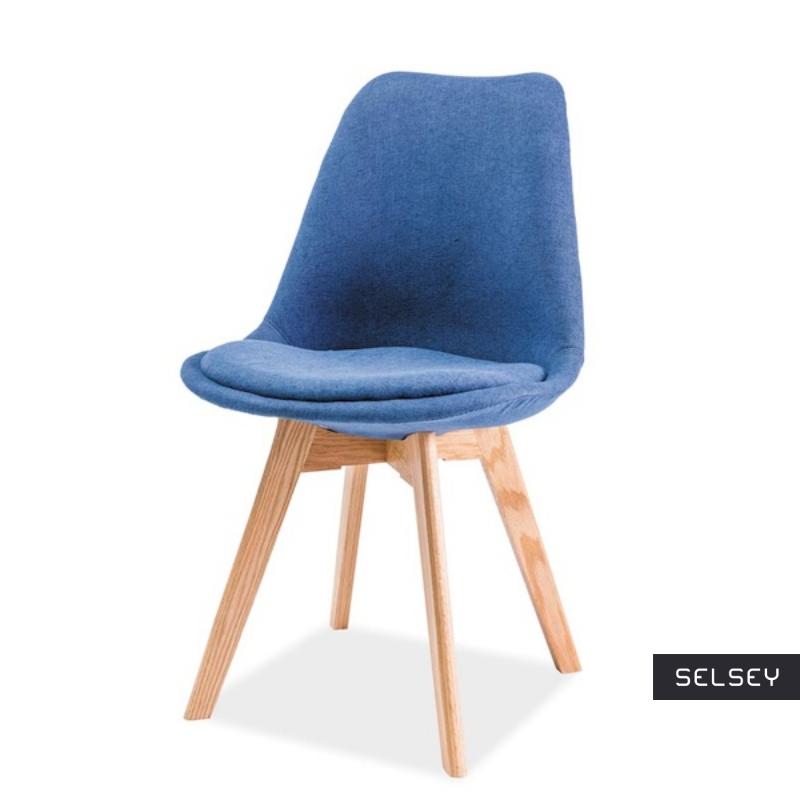 Krzesło Luis na dębowej podstawie