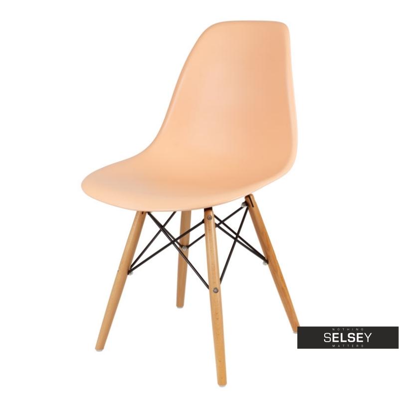 Krzesło Basic brzoskwiniowe buk