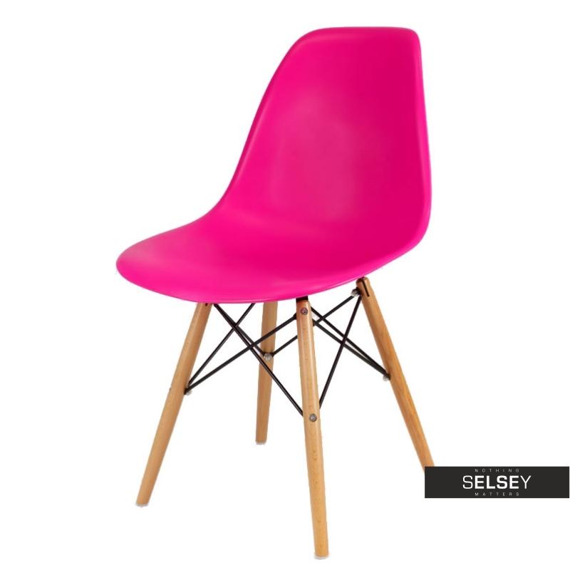 Krzesło Basic fuksja buk