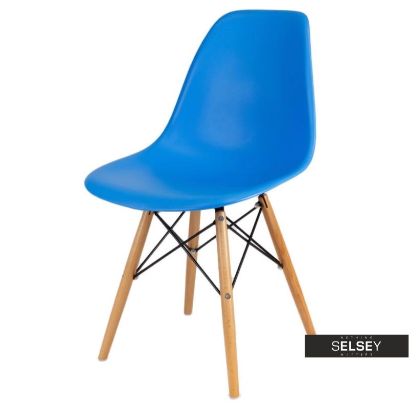 Krzesło Basic niebieskie buk