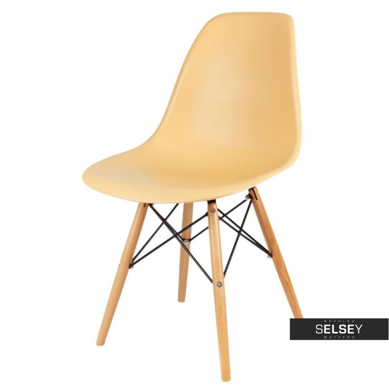 Krzesło Basic morelowe buk