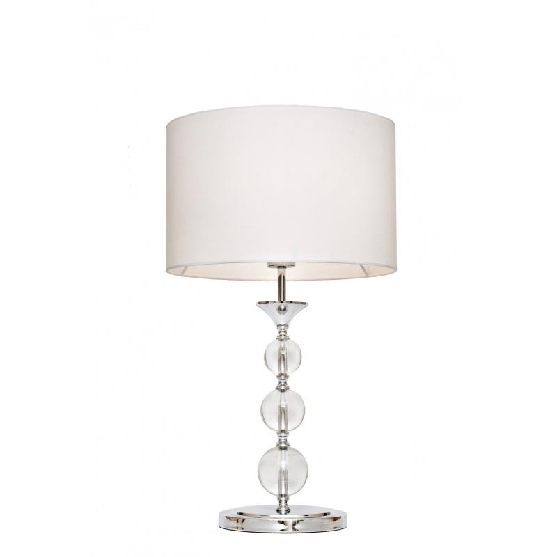 Lampa stołowa Crystal biała