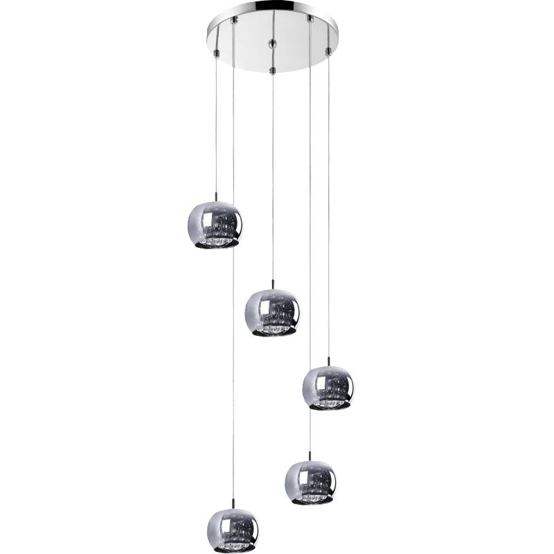 Lampa wisząca Glamour kaskada x5