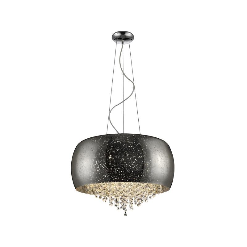 Lampa wisząca Tiffany średnica 50 cm srebrna
