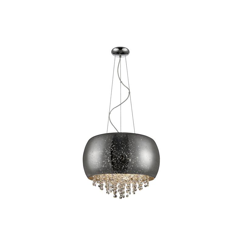 Lampa wisząca Tiffany średnica 40 cm srebrna