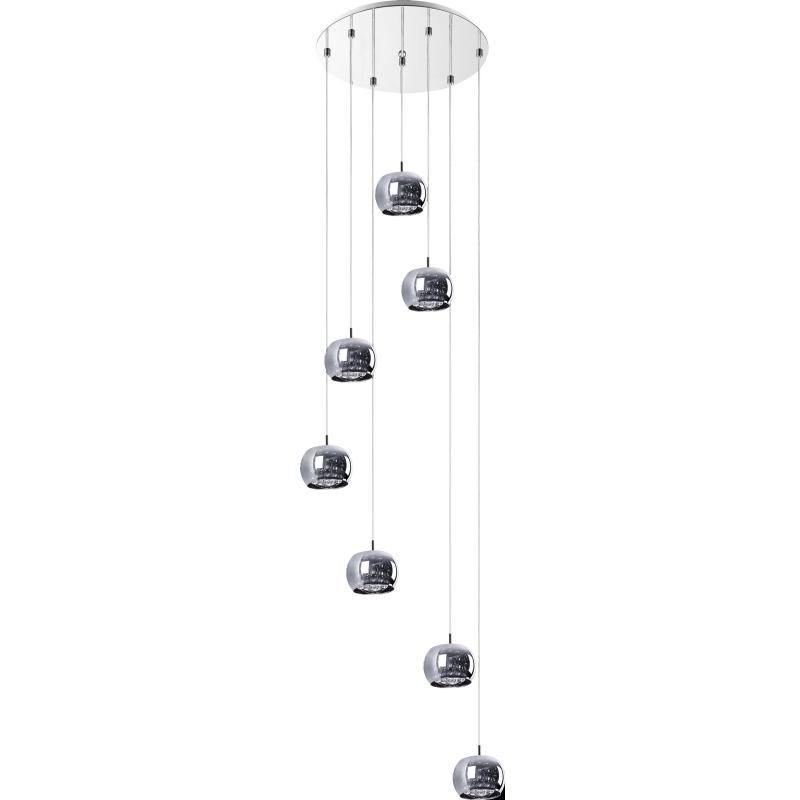 Lampa wisząca Glamour kaskada x7