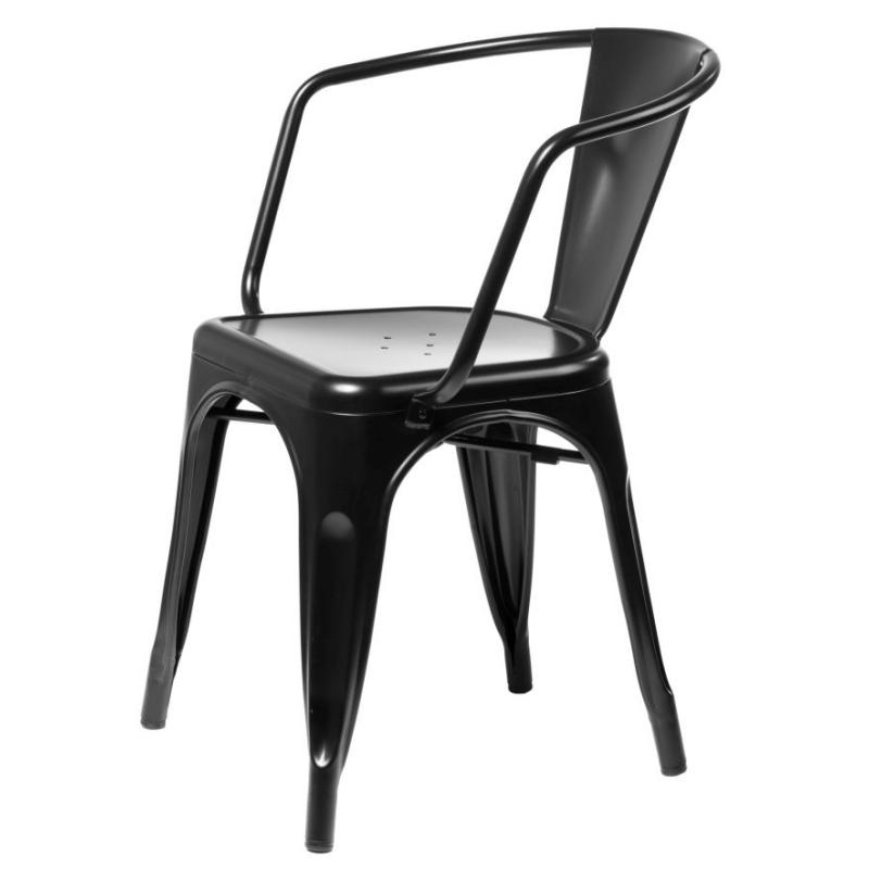 Krzesło Tolader Arms czarne