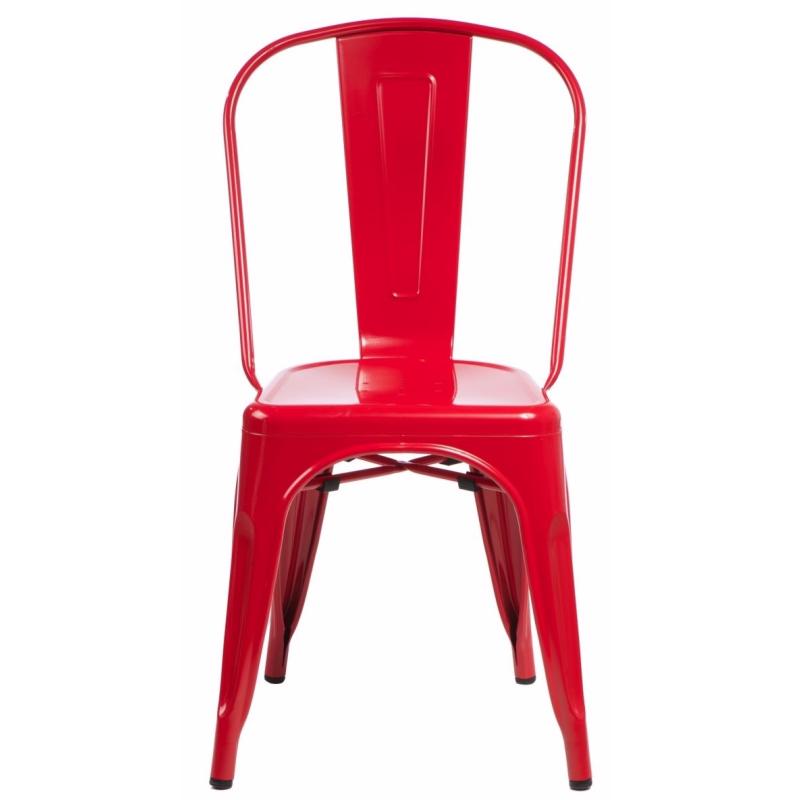 Krzesło Tolader czerwone