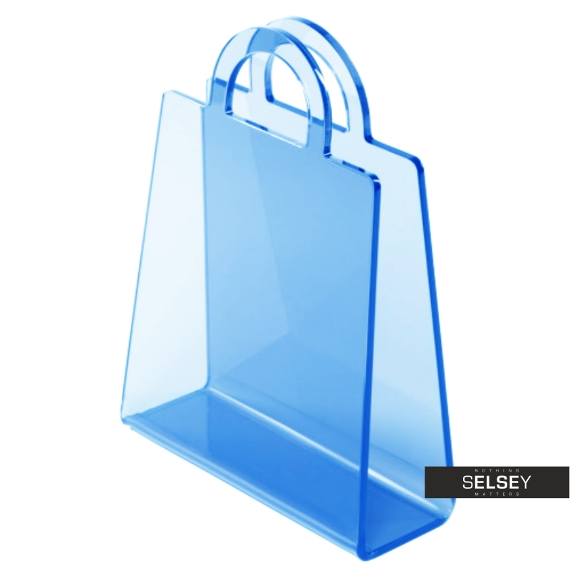 Gazetnik Bolsa niebieski transparentny