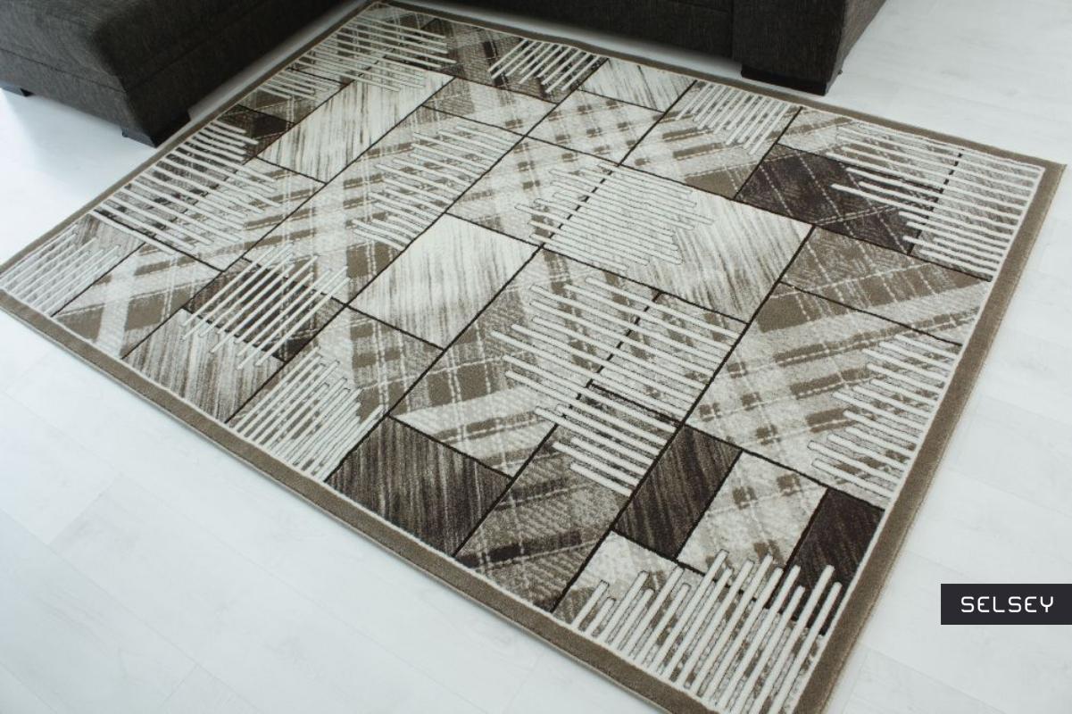 Dywan Patchworkowa Flora z odcieniami turkusu 120x180 cm