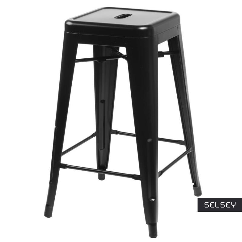 Hoker Paris 66cm czarny inspirowany Tolix