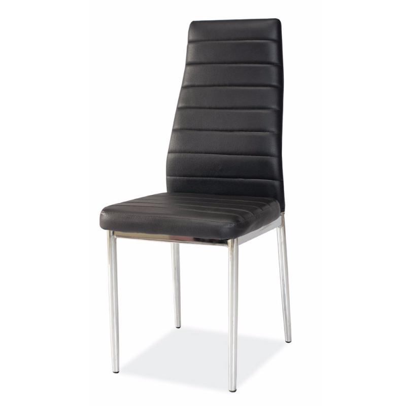 Krzesło Lastad czarne na błyszczącej podstawie