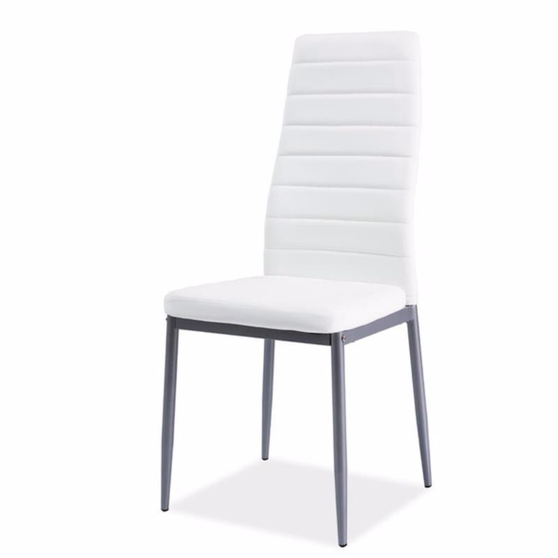Krzesło Lastad białe na satynowej podstawie
