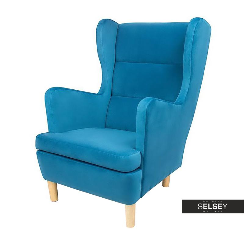 Fotel Lombok niebieski