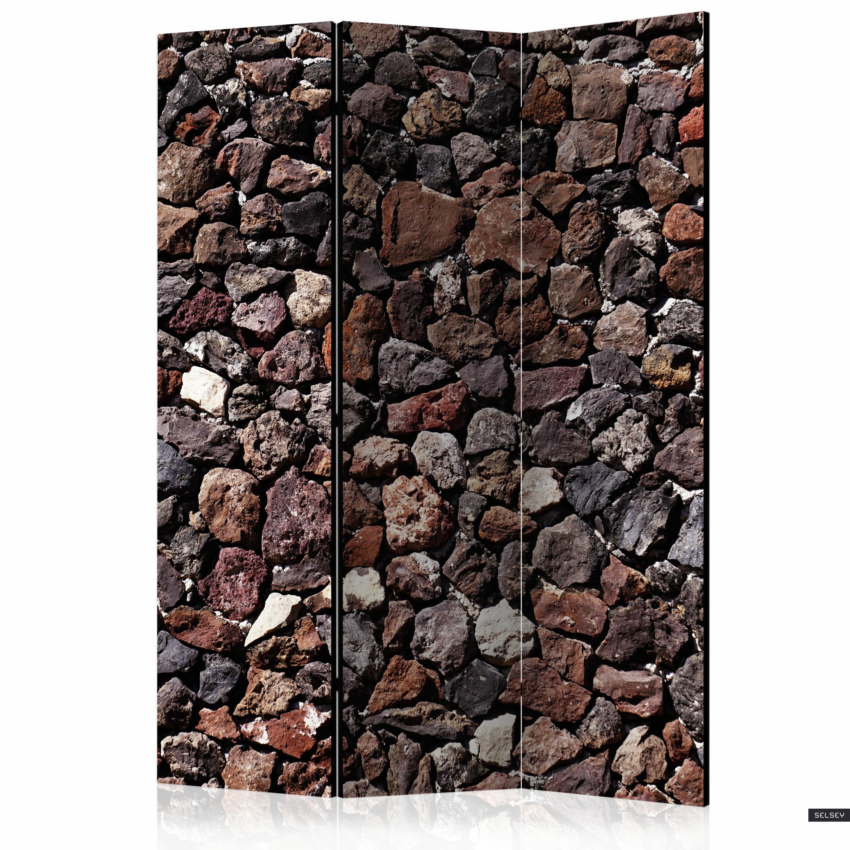 Parawan 3-częściowy - Kamienny zamek