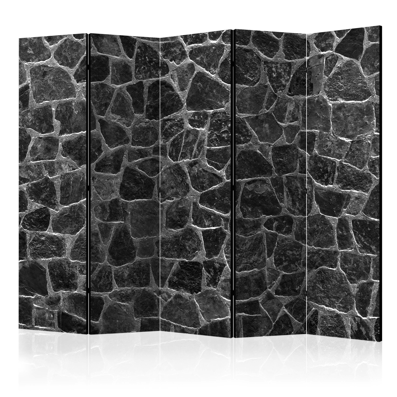 Parawan 5-częściowy - Czarne kamienie