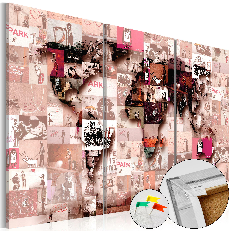 Tablica korkowa Banksy Graffiti Collage