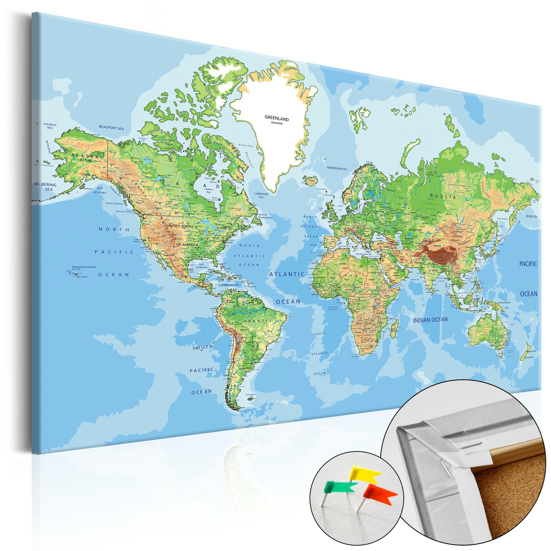 Tablica korkowa Geografia świata