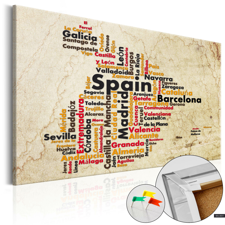 Tablica korkowa Hiszpańskie miasta (ES)