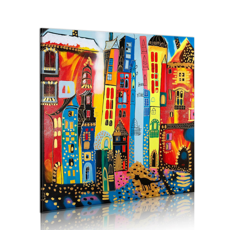 Obraz malowany - Magiczna ulica