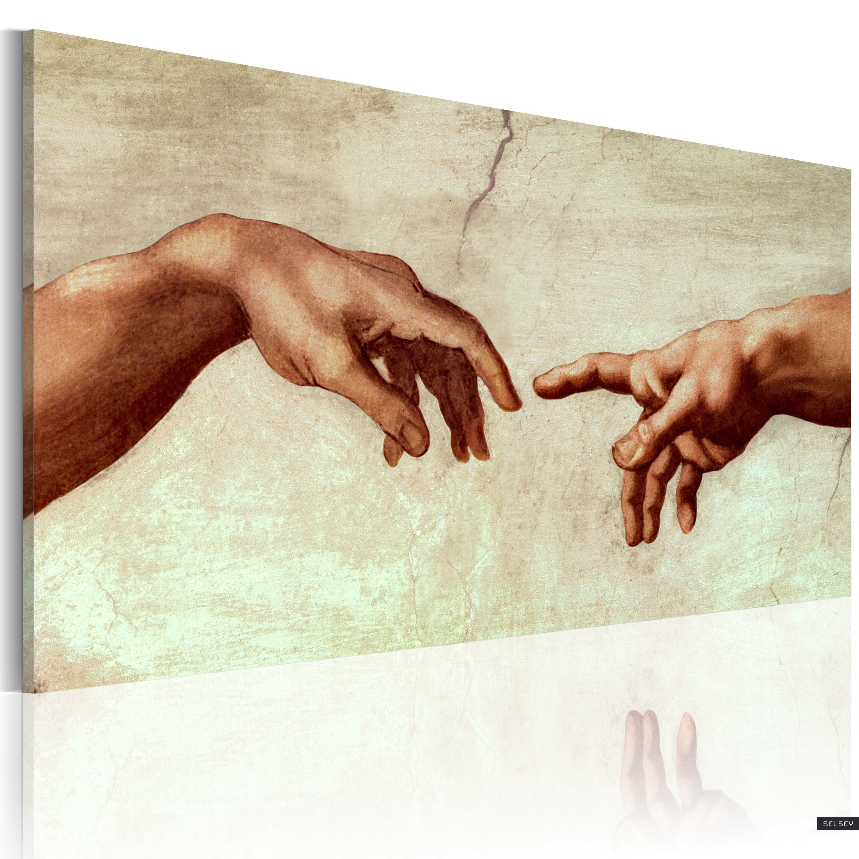 Obraz malowany - Stworzenie Adama