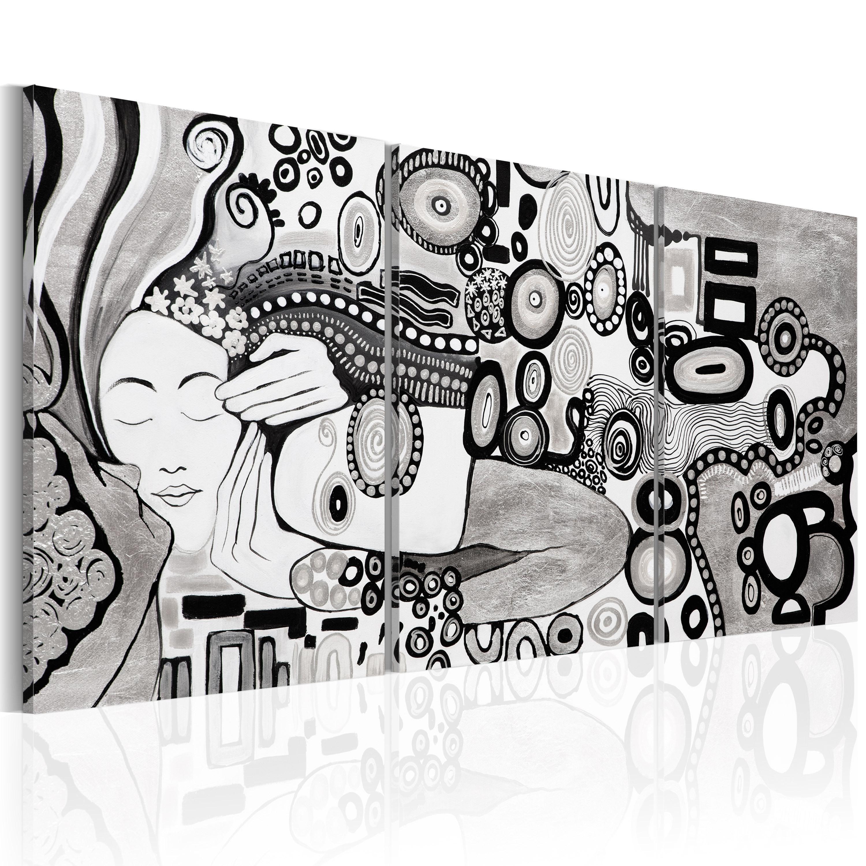 Obraz malowany - Srebrny pocałunek