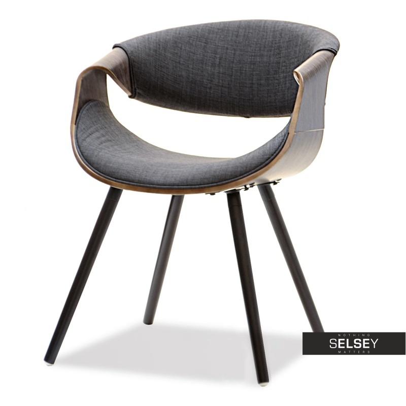 Krzesło Bent dąb palony - grafit