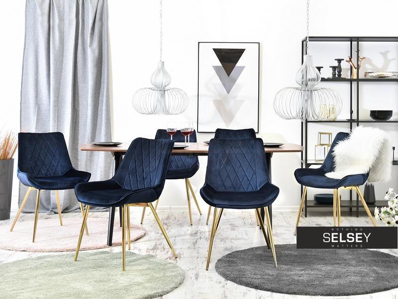 Krzeslo Adel Granatowe Velvet Wysoka Jakosc Wykonania I