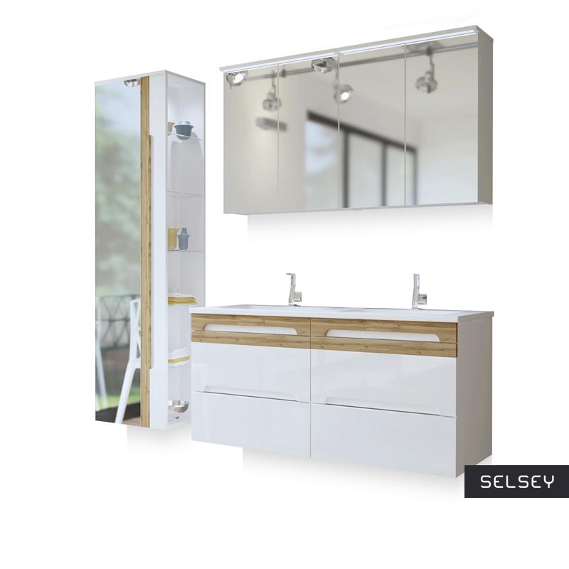 Zestaw mebli łazienkowych Warner z lustrem duży